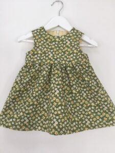Babyklänning Unik-Blomsteräng