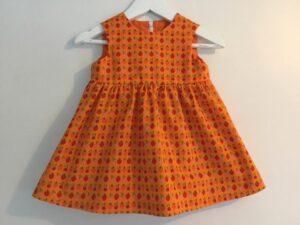 Babyklänning Unik-Orange