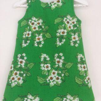 Klänning Anne-Grönblommig