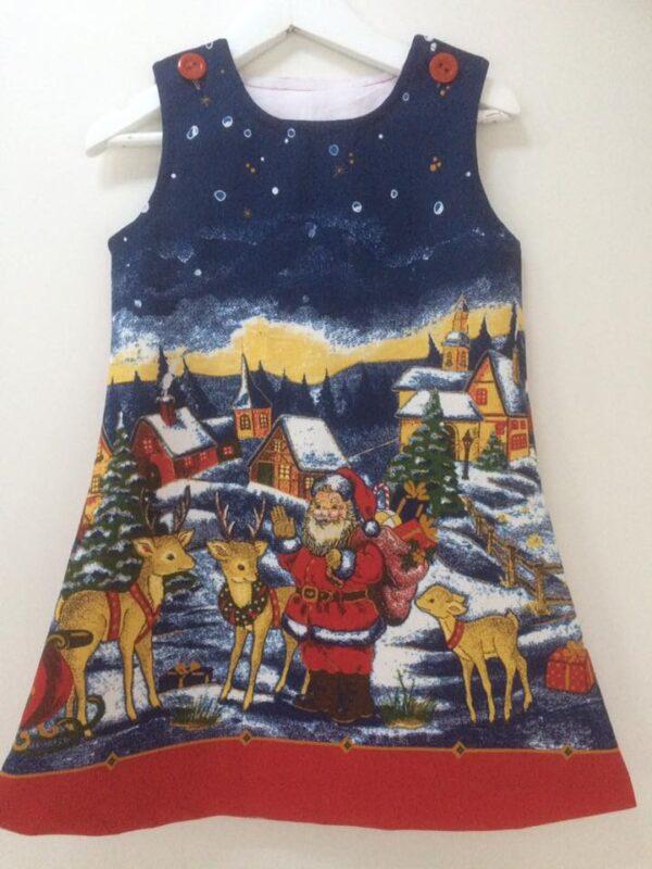 Klänning Mekko-Jul,98 cm
