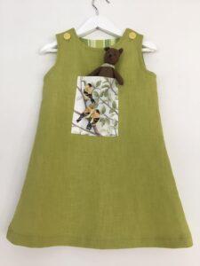 Klänning Mekko-steglitsar, 98 cm