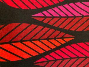 Tyg Blader röd