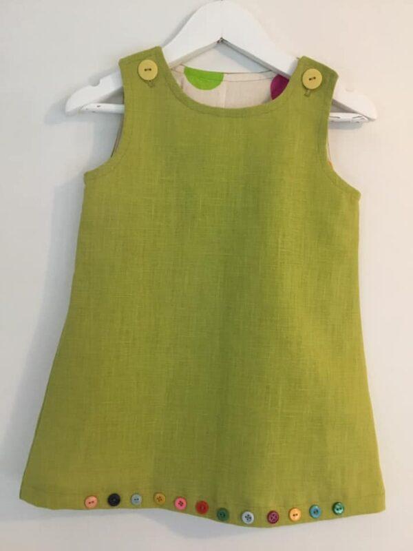 Klänning Mekko Olivgrön 86 cm