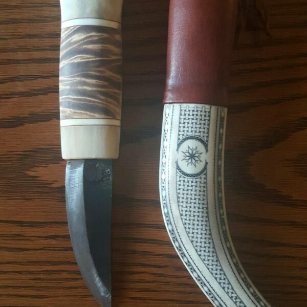 Renhornkniv halvhorn