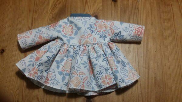 Dockklänning Blomma-blå